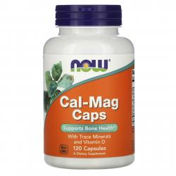 Now Foods Cal-Mag caps with Trace Minerals and Vitamin D 120 capsules