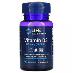 Life Extension Vitamin D3 125 mcg (5.000 IU) 60 Softgels