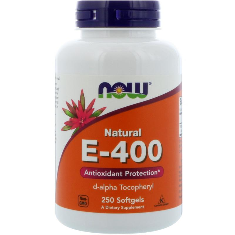 Now Foods E-400 d-alpha Tocopheryl 250 softgels - фото 1
