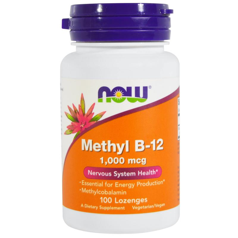 Now Foods Methyl B-12 1000 mcg 100 lozenges - фото 1