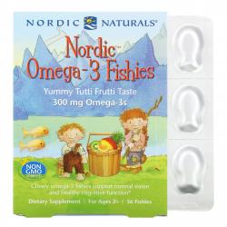 Nordic Naturals Omega-3 Fishies 300 mg Omega-3s 36 fishies