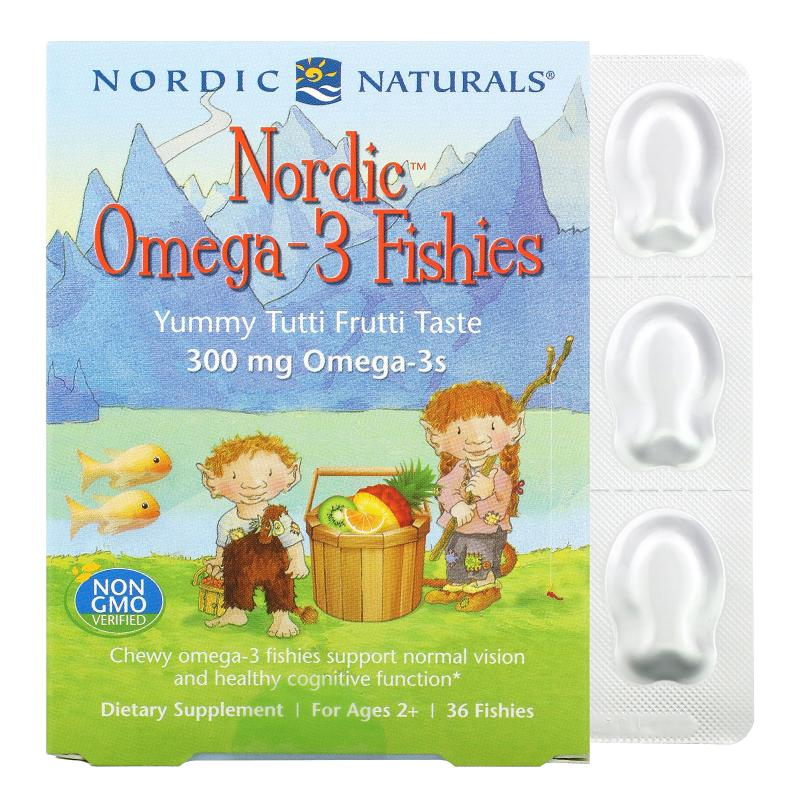 Nordic Naturals Omega-3 Fishies 300 mg Omega-3s 36 fishies - фото 1