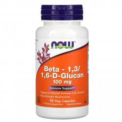 Now Foods Beta-1,3/1,6-D-Глюкан 100 mg 90 vcaps