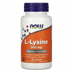 Now Foods L-Lysine 500 mg 100 caps
