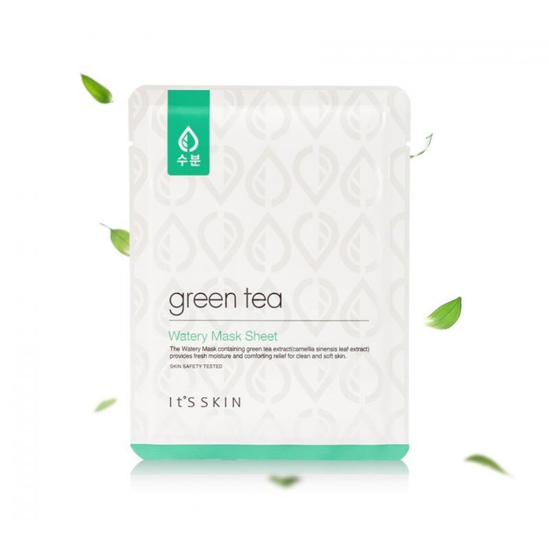 It's Skin Green Tea Mask Тканевая маска для жирной и комбинированной кожи с зеленым чаем 18г - фото 1