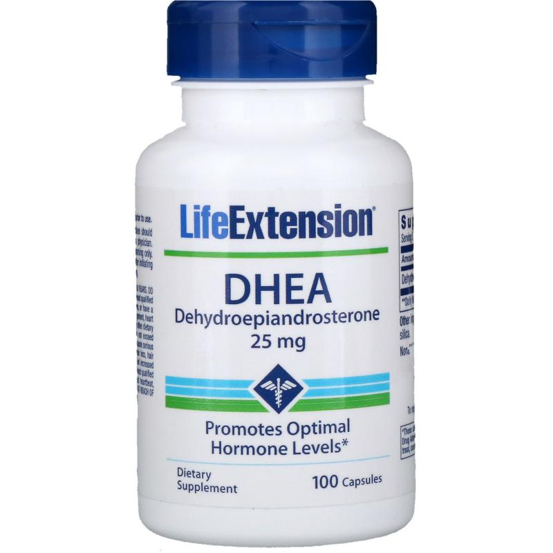 Life Extension Dhea 25 mg 100 capsules - фото 1