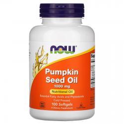 Now Foods Pumkin Seed Oil 1000 mg 100 softgels