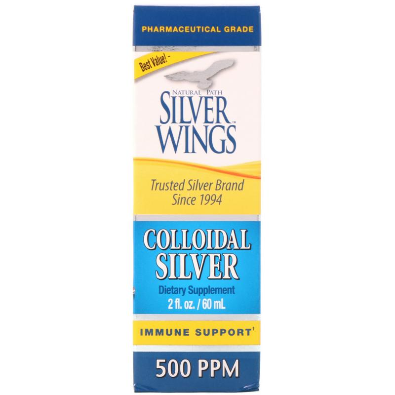 Natural Path Silver Wings Colloidal Silver 500 ppm 60 ml - фото 1