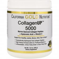 California Gold Nutrition Collagen UP 5000 + Hyaluronic Acid + Vitamin C 205 g