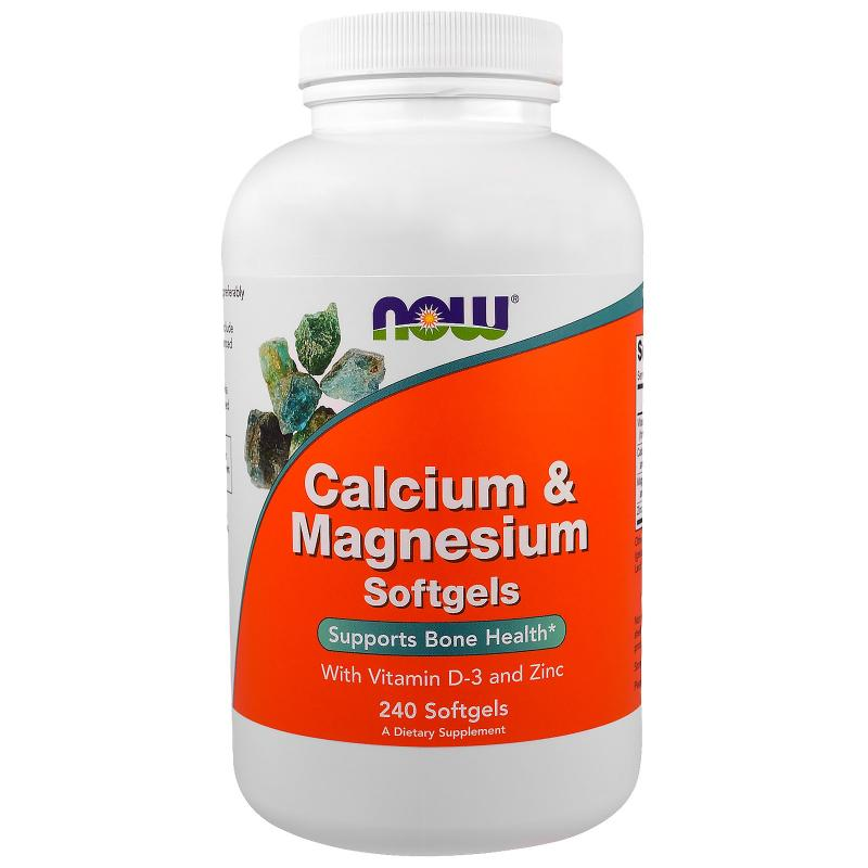 Now Foods Calcium & Magnesium 240 softgels - фото 1