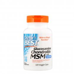 Doctor's Best Glucosamine Chondroitin MSM with OptiMSM 120 vcaps