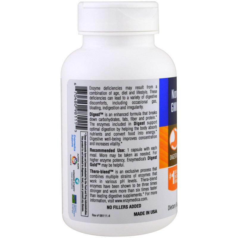 Enzymedica Digest Complete Enzyme Formula 90 capsules - фото 1