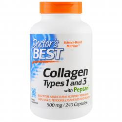 Doctor's Best Best Collagen Type 1 & 3 500 mg 240 vcaps