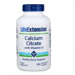 Life Extension Calcium Citrate with Vitamin D 200 vcapsules