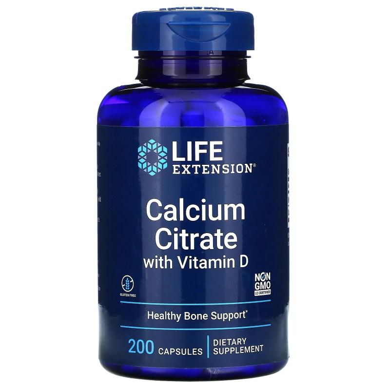 Life Extension Calcium Citrate with Vitamin D 200 vcapsules - фото 1