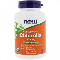 Now Foods Chlorella 500 mg 200 tablets
