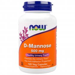 Now Foods D-Mannose 500 mg 120 vcaps
