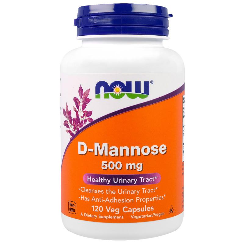 Now Foods D-Mannose 500 mg 120 vcaps - фото 1
